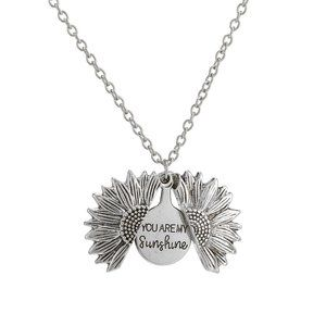 3/$20 New Silver You Are My Sunshine Necklace